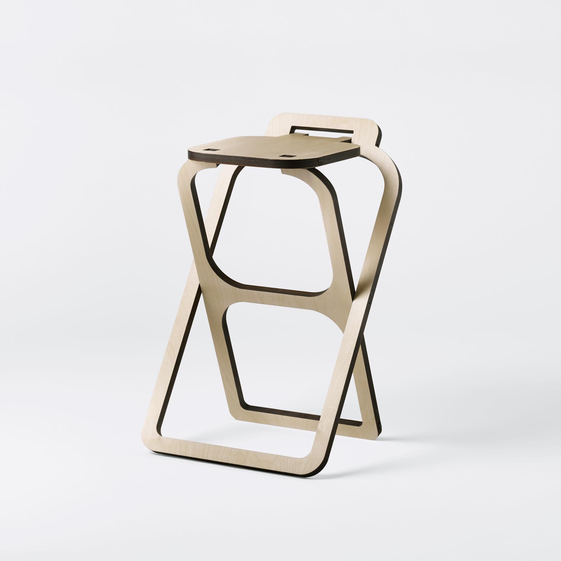 Uno Sgabello Pieghevole.Sgabello Pieghevole In Legno Design Made In Italy